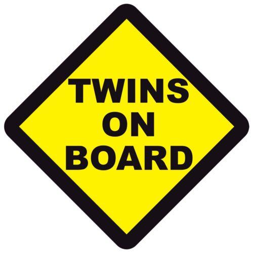 Jumeaux à bord warning signal de Sécurité Sticker Autocollant Vinyle pour Voiture Fenêtre