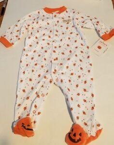 3ae36055da73 Infant Unisex Carters Halloween Little Pumpkin Sleep   Play with ...