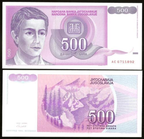 YUGOSLAVIA 500 Dinara 1992 UNC Pick 113