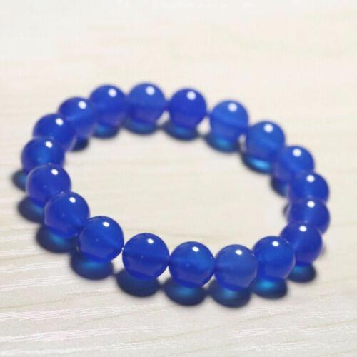 "Natural 6//8//10//12mm Multicolor Gemstone Round Bead Bangle Bracelet 7.5/"" AAA"
