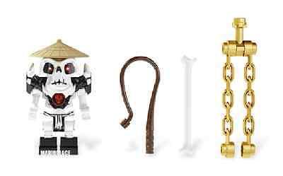 LEGO NINJAGO 2175 Wyplash WITH 3 WEAPONS MINIFIG figure minifigure skeleton NEW