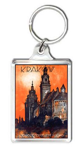Krakow Poland Vintage Keyring Keychain