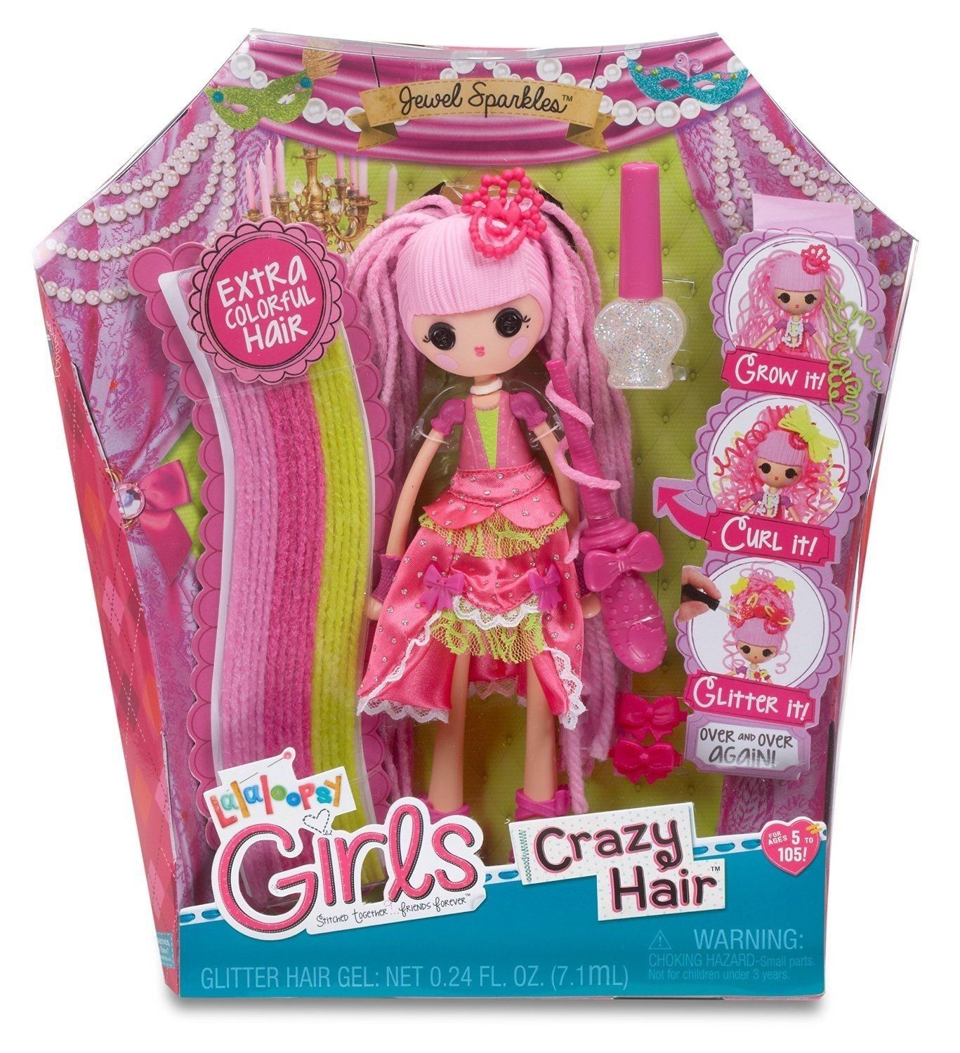 LALALOOPSY GIRLS CRAZY HAIR JEWEL SPARKLES BRAND NEW