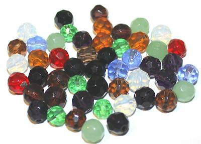 350 Malachitblau Kristall Facettiert Böhmische Glasschliffperlen Beads 8mm