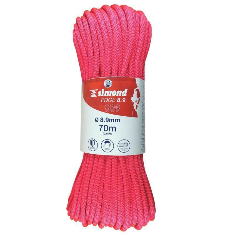 SIMOND Edge Climbing Rope - 8.9 x 70 m Pink   factory direct