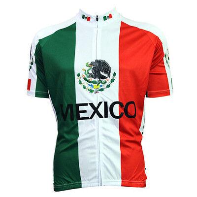 MEXICO FLAG Cycling Jersey Shirt Retro Bike Ropa Ciclismo MTB Maillot