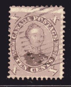 1859-1864 Canada SC# 17-First Cents Issue-HRH Prince Albert-Lot# CUO3-Used
