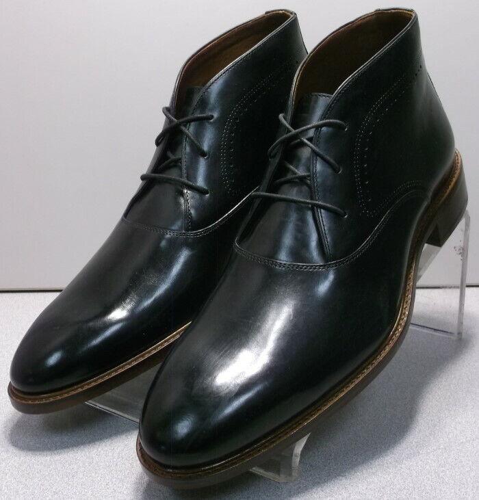 152845 SPBT 50 Chaussures Hommes Taille 9 m Noir Bottes en cuir Johnston & Murphy