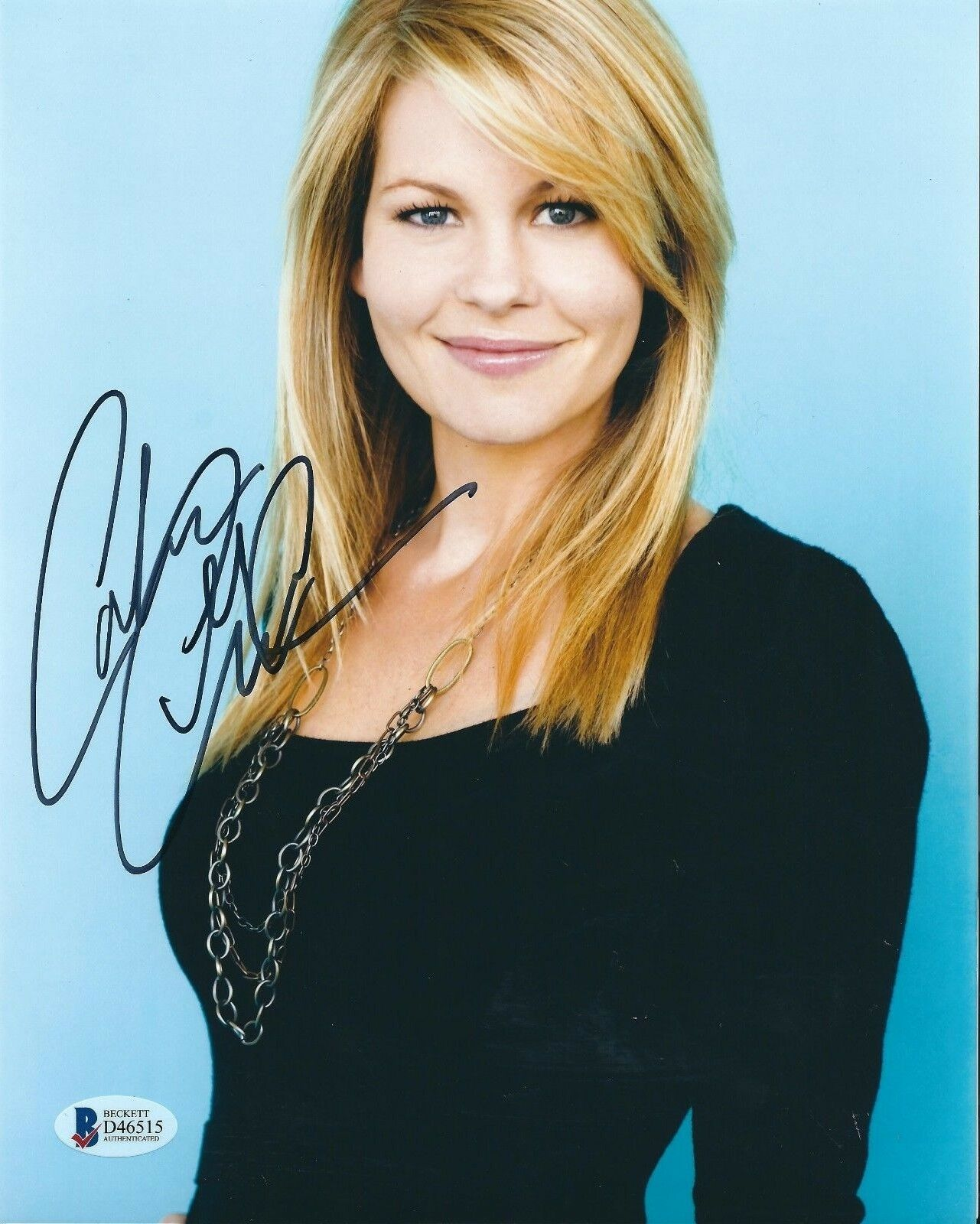 Candace Cameron Signed 8x10 Photo *Model *Actress BAS Beckett D46515