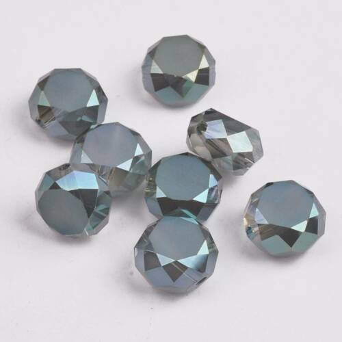 10pcs 12x7mm Rondelle Faceted Crystal Glass Loose Craft Beads Jewelry Findings