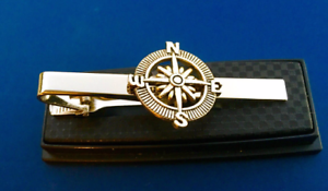 Compass Tie Clip Navigation Instrument Direction Tie Bar Hiker Camper Sailor NEW