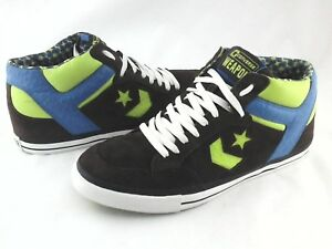 CONVERSE Weapon Sneakers Brown Suede w Blue/Green Shoes Mens US 12