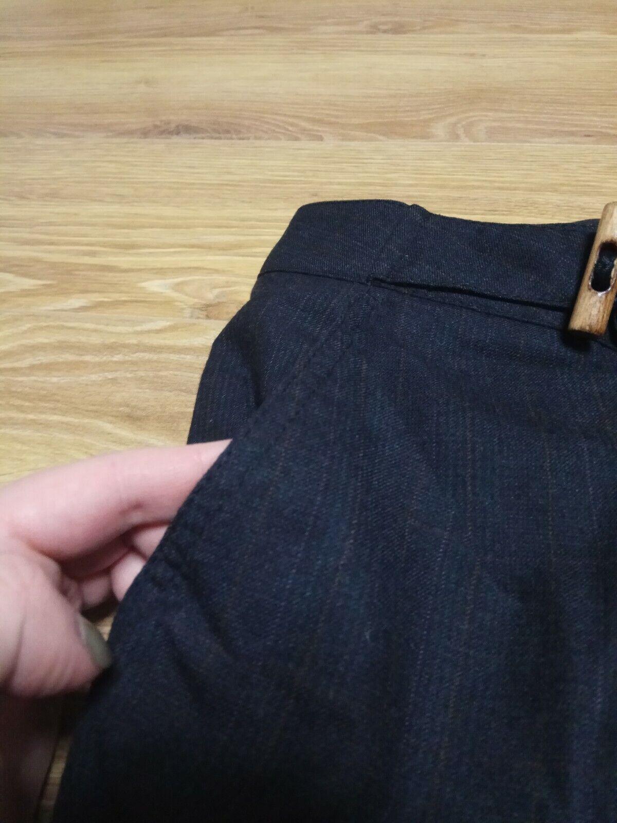 Hugo Boss James Black/grey Wool Dress Pants Micro… - image 5