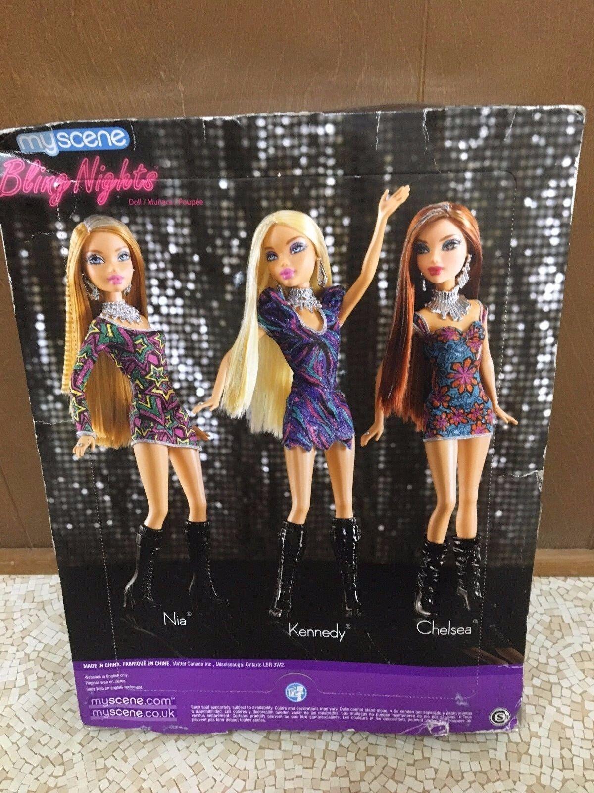 2010 Barbie My Scene Kennedy Doll Blonde Hair Sparkle Streaks Bling ...