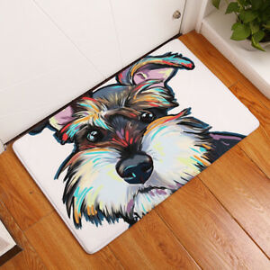 Flannel-Cute-Dog-Printed-Bathroom-Bedroom-Mat-Floor-Rug-Carpet-Non-Slip-Blanket