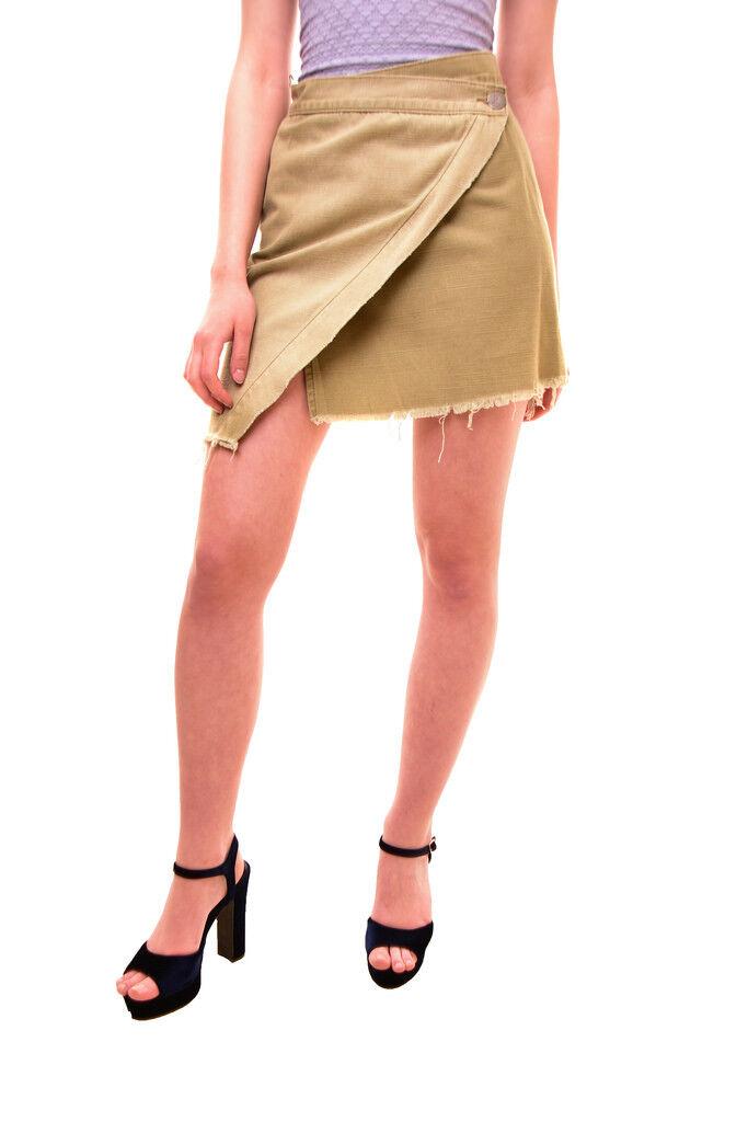 One Teaspoon Women's Cococash Wrap Skirt Green Size 26 RRP  109 BCF84