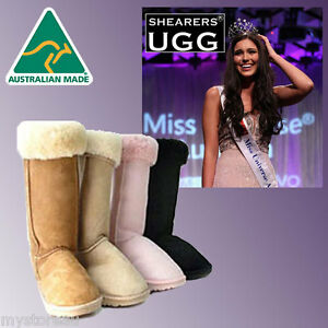 CLEARANCE-SALE-HANDMADE-Australia-SHEARERS-UGG-Classic-Tall-Long-Boots-Sheepskin