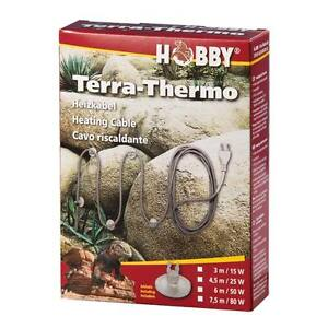 hobby heizkabel terra thermo 3m 15w terrarium heizung. Black Bedroom Furniture Sets. Home Design Ideas