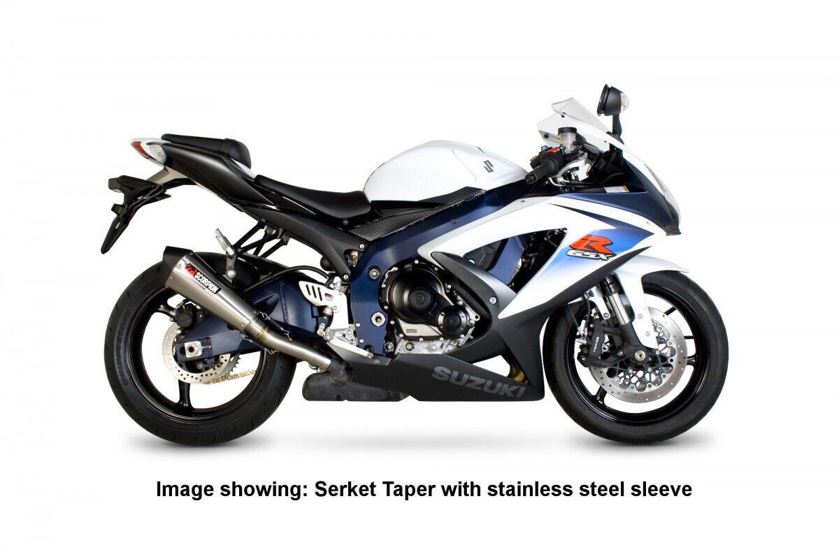 Suzuki GSX-S 750 Serket Taper Slip-on Carbon Fibre Exhaust sleeve