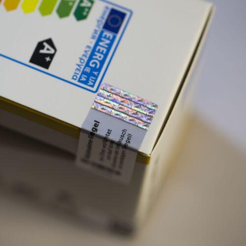 3D Hologramm Garatiesiegel Siegel Aufkleber Sticker 5 x 2 cm Warranty Seal