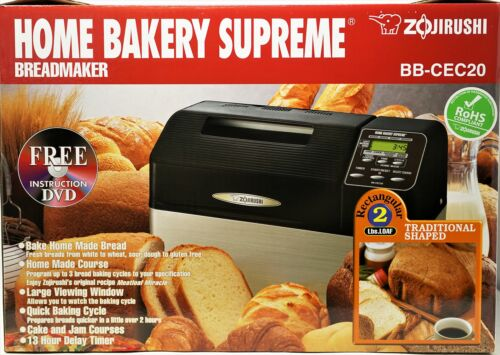 Zojirushi Home Bakery Supreme BB CEC20 2 Pound lb 2lb Loaf Bread Machine Black
