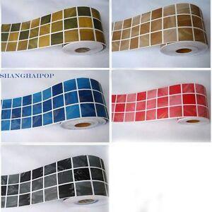 Selbstklebende Bordure Aufkleber Tapete Mosaik Kachel Vinyl Kuchen
