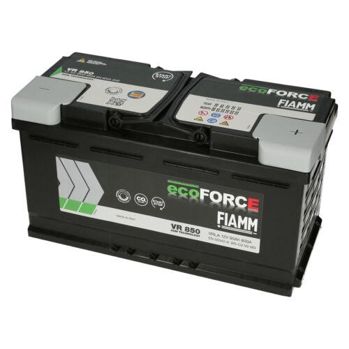 AGM Autobatterie 12V 95Ah 850A//EN FIAMM ECOFORCE ersetzt 80Ah 85Ah 95Ah 100Ah