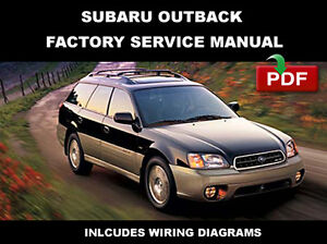 subaru 2000 2001 2002 2003 2004 outback ultimate factory service rh ebay com 2004 subaru outback repair manual 2002 subaru outback shop manual