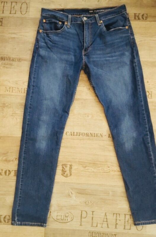 Analytisch Levi's 512 Slim Taper Fit Jeans Gr. 32 / 32 Blau Performance Washed Blue Levis