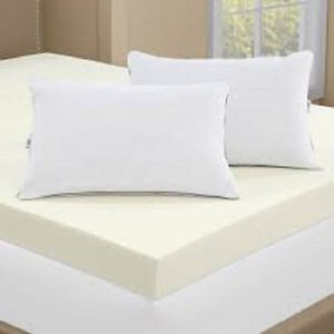 new serta 4 inch memory foam mattress topper with 2 pillows full queen king cal ebay. Black Bedroom Furniture Sets. Home Design Ideas