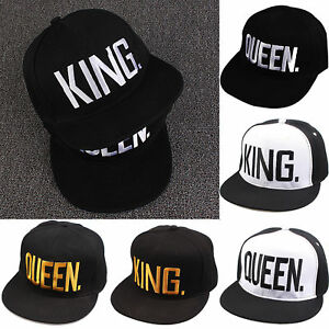 29fdc0bcf3a Image is loading King-And-Queen-Letter-Hat-Adjustable-Baseball-Cap-