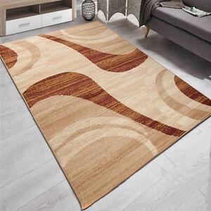 Teppich Wohnzimmer Modern Muster in Beige | 180x250 | 200x300 | 9 ...