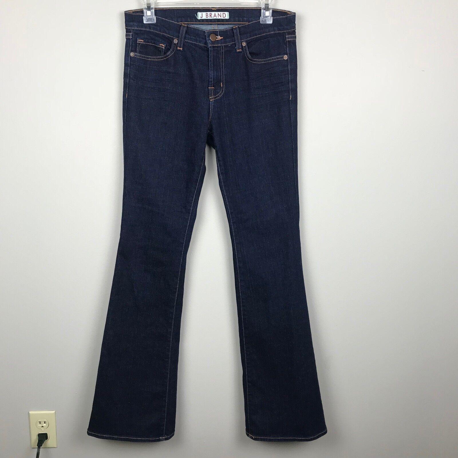 J Brand Women's Size 28 Jeans Flare Wide Leg Dark Wash 800 Ink