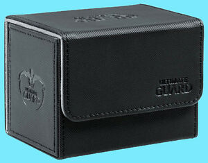 ULTIMATE-GUARD-XENOSKIN-BLACK-SIDEWINDER-80-DECK-CASE-Side-Loading-Card-Box-MTG