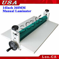 All Metal Roll Laminating Machine Cold Laminator 14in360mm Manual Roller Desktop