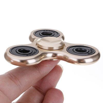Aluminum Alloy Hand Spinner Tri Fidget Spinner 3D EDC Focus Toy Kids/Adult Gold