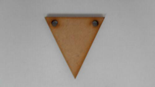 5 cm 2 trous Bunting Bois Craft forme X 20
