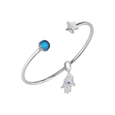 Bracciale Rigido Donna MORELLATO DROPS SCZ991 Acciaio Swarovski Stella Charm Blu