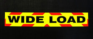 Wide-Load-Fluorescent-Magnetic-Warning-Sign
