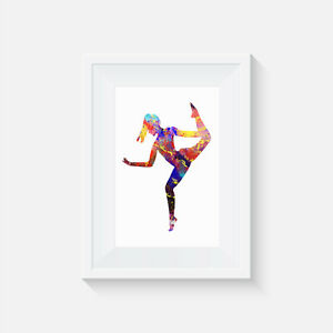 wall art Pirouette picture print gift poster home decor, dance