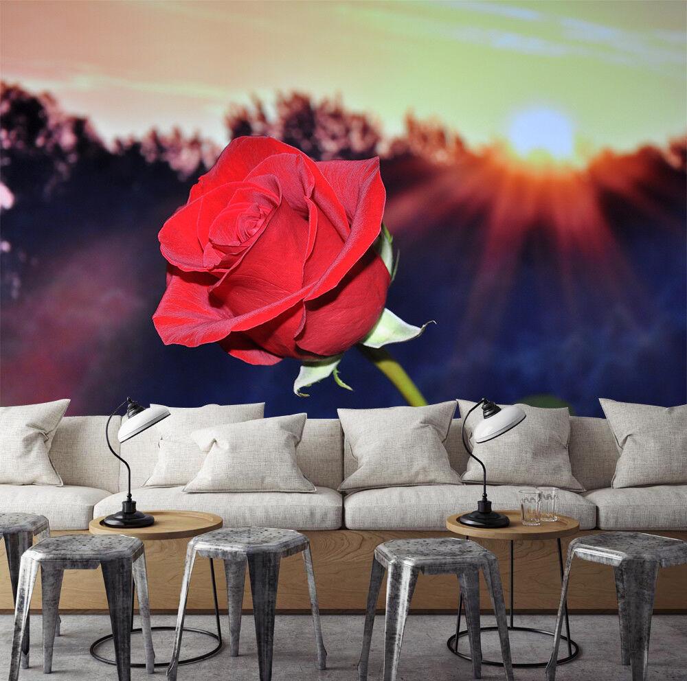 3D ROT Rose 52 Wallpaper Murals Wall Print Wallpaper Mural AJ WALLPAPER UK