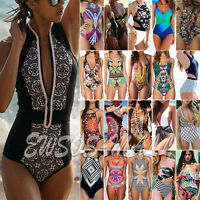 Sexy One Piece Womens Swimming Costume Swimsuit Monokini Swimwear Push Up Bikini