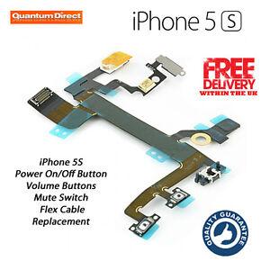 RICAMBIO-IPHONE-5S-ON-OFF-POWER-BLOCCO-VOLUME-MUTO-SILENZIOSO-TASTI