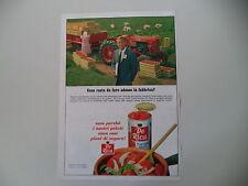 advertising Pubblicità 1968 PELATI DE RICA e TRATTORE FIAT 411 R