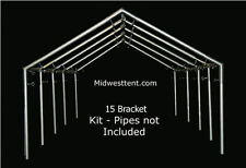 Canvas Wall Tent 15 bracket kit for 1in pipe/conduit frame canopy carport  sc 1 st  eBay & 15 PC Angle Kit for DIY Outfitter Canvas Wall Tent Frame Canopy ...