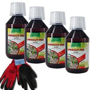 Dr Stähler Unkrautvernichter Unkrautfrei Glyfos 1L Glyphosat Herbizid 4x250ml+GH