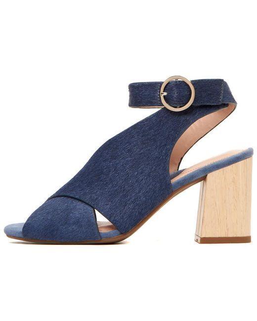 New Taryn pink Womens Leila bluee Haircalf shoes, size 8 B