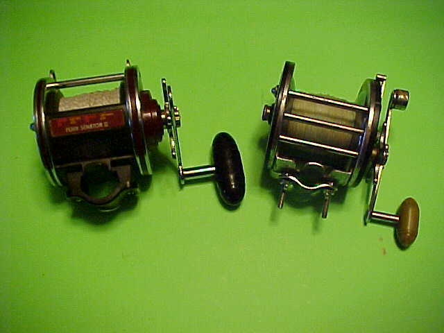 PAIR OF PENN FISHING REELS, PENN 113HL 4 0 AND  PENN LONG BEACH 67, PRE-OWNED  selling well all over the world