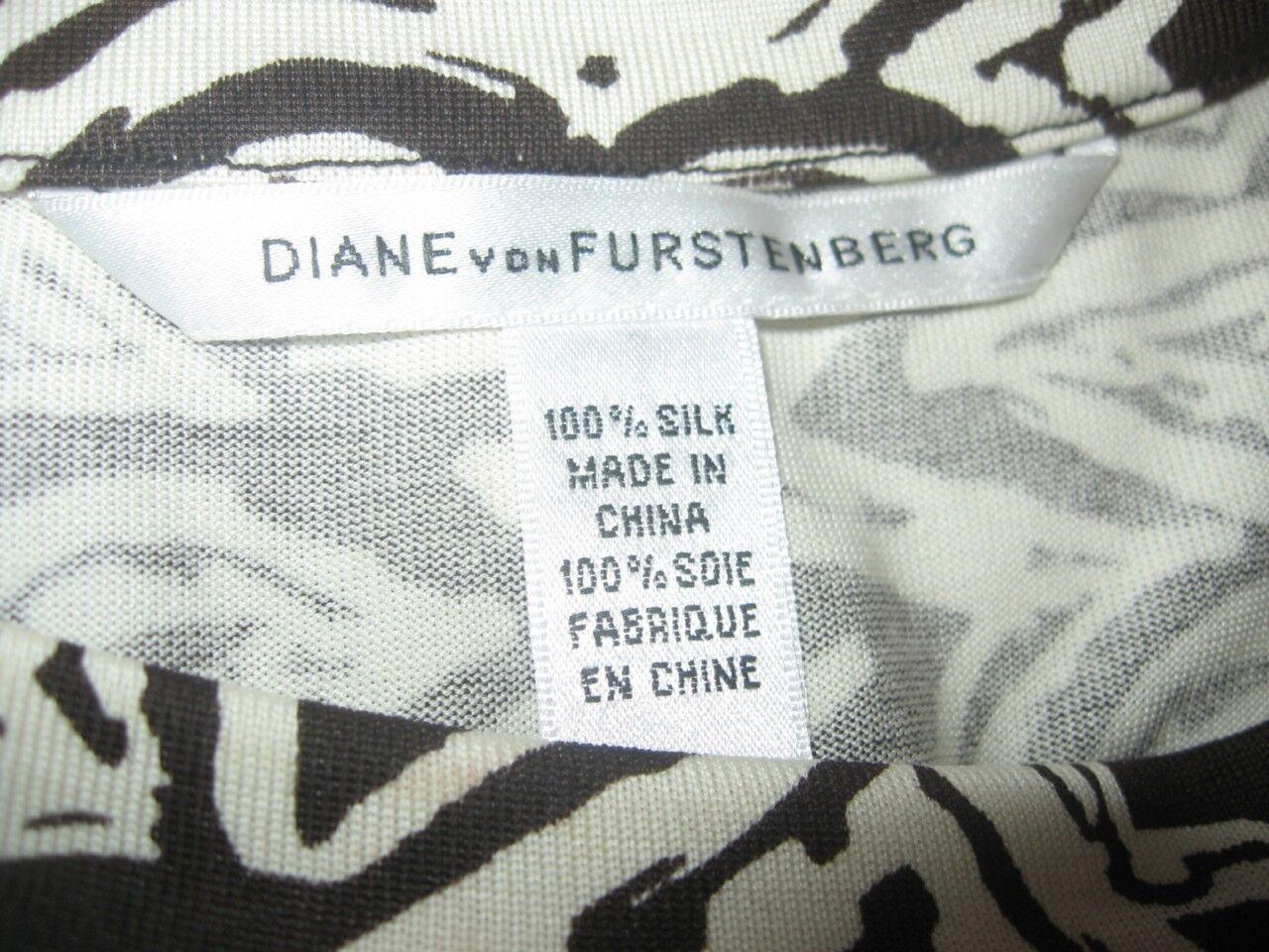 DVF DVF DVF Diane Von Furstenberg ROCCO Silk Jersey Dress Tribal Tattoo 2 US  298 def4d9
