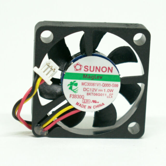 10pcs Sunon MC30061V1-Q000-G99 30x30x6mm 3006 12V 1.0W 3pin DC Brushless Fan